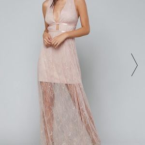 BEBE Flowy Lace Maxi Dress size M